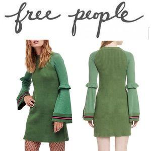 (NWT) FREE PEOPLE Zou Bisou Knit Mini Dress